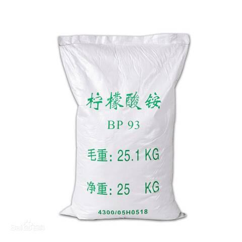 测铅加入柠檬酸铵的作用